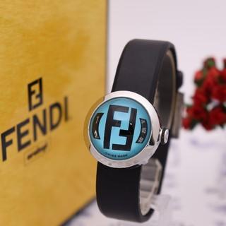 FENDI - 正規品【新品電池】FENDI 8010L/ブルー ズッカ柄 ビッグデイト