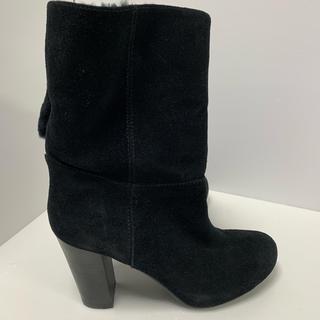 ナチュラルビューティーベーシック(NATURAL BEAUTY BASIC)のナチュラルビューティーベーシック 本革ムートンブーツ 暖かい 23センチ(ブーツ)