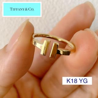 Tiffany & Co. - ティファニー ✨ K18  ティファニーT  ワイヤーリング 9号