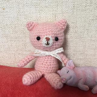 素朴な顔のねこちゃん(ピンク)