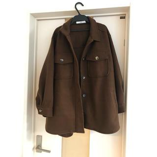 GRL - グレイル シャツ ジャケット アウター ブラウン