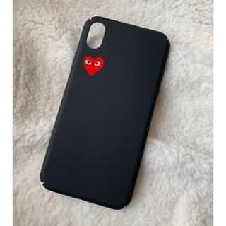 コムデギャルソン(COMME des GARCONS)のiPhoneケース ♡ iPhoneXR ギャルソン 黒 マット シンプル(iPhoneケース)