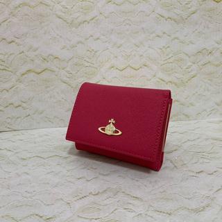 Vivienne Westwood - Vivienne Westwood がま口三つ折り財布 ピーチ
