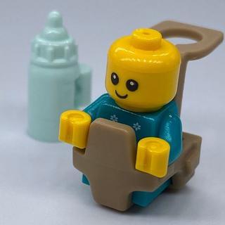 Lego - 【新品】LEGO トナカイ柄 赤ちゃん1体+哺乳瓶1本+抱っこ紐1個
