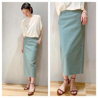【新品タグ付】《追加》麻ストレッチタイトスカート