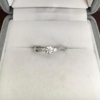 ヨンドシー(4℃)の4℃ ダイヤモンド リング Pt950 0.173ct F VS-1 EX(リング(指輪))