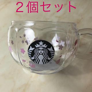 Starbucks Coffee - スターバックス さくら 2020 耐熱グラスマグサクラシェイプ 2個セット