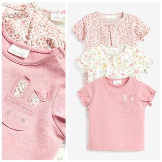 NEXT - 新品❣️ネクスト Tシャツセット ピンク フローラル うさぎ