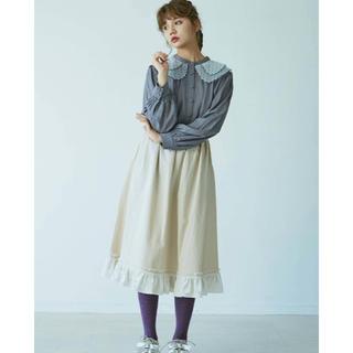 メリージェニー(merry jenny)のメリージェニー  ベロアフリルスカート (ひざ丈スカート)