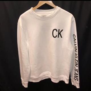 Calvin Klein - Calvin Klein Jeans メンズ 裏起毛スウェット ホワイト