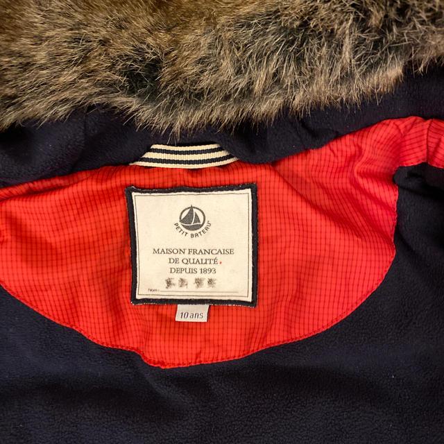 PETIT BATEAU(プチバトー)のTornac様 専用 petit brteau コート 138cm 10ans キッズ/ベビー/マタニティのキッズ服男の子用(90cm~)(コート)の商品写真