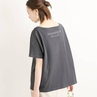 IENA - BACK ロゴTシャツ