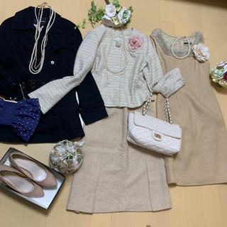 ビバユー(VIVAYOU)の入学式 フォーマル セットアップ スカートスーツ Mサイズ相当 4点セット(スーツ)