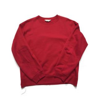 アンユーズド(UNUSED)のUNUSED 18AW スウェットシャツ レッド サイズ1(スウェット)