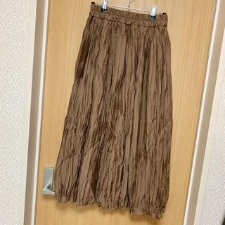 Avail - [美品]アベイル プリーツスカート ブラウン M ワッシャースカート