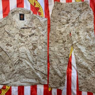 米軍 海兵隊 放出品 実物 払い下げ ミリタリー 戦闘服 M-R 上下セット(戦闘服)