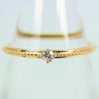 アガット(agete)のアガット K10 ダイヤモンド ピンキー リング 3号 [g112-9] (リング(指輪))