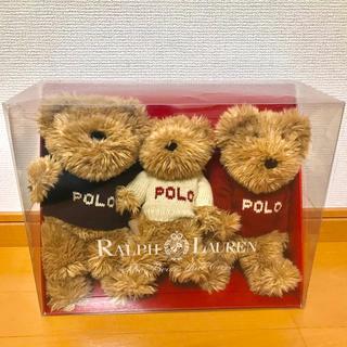 ポロラルフローレン(POLO RALPH LAUREN)の【希少】2002年 Polo ラルフローレン ぬいぐるみ3体セット ポロベアー(ぬいぐるみ)