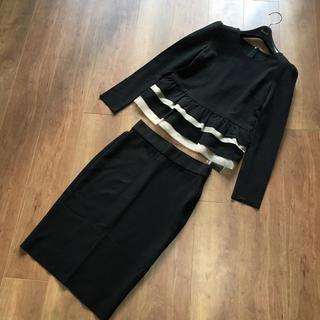 ダブルスタンダードクロージング(DOUBLE STANDARD CLOTHING)の新品タグ付きダブルスタンダード クロージングフリルセットアップ(ひざ丈ワンピース)