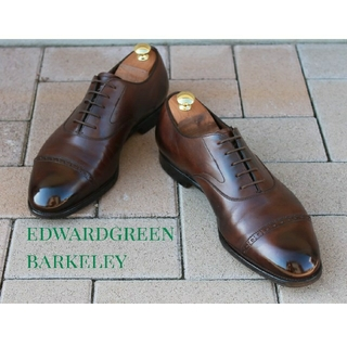 EDWARD GREEN - 美品エドワードグリーンバークレー8ハーフF#202 パンチドキャップの最高峰