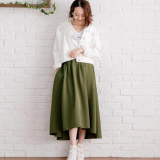 夢展望 - ロングスカート カーキ L
