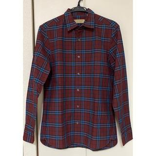 BURBERRY - バーバリーロンドン イングランド コットンチェックシャツ S