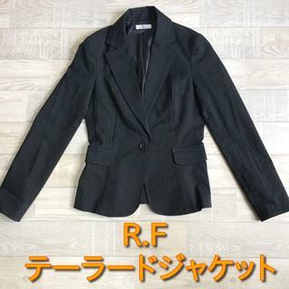 R・F - 【R.F】テーラードストライプジャケット ブラック 38 Mサイズ