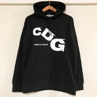 コムデギャルソン(COMME des GARCONS)の最新作 新品 コムデギャルソン CDG ドロップロゴ フーディ パーカー(パーカー)