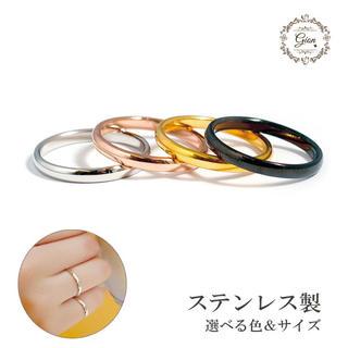 サイズ充実  チタンステンレス ピンキーリング関節リング(リング(指輪))