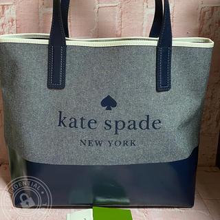 kate spade new york - WKRU5820 ケイトスペード A4OK! 大容量 キャンバス デニム トート