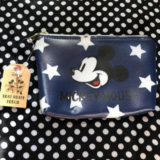 ミッキーマウス - 新品未使用 ディズニー ミッキー ミニポーチ 青 星