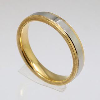 シルバーライン4mmステンレスリング ゴールド 新品(リング(指輪))