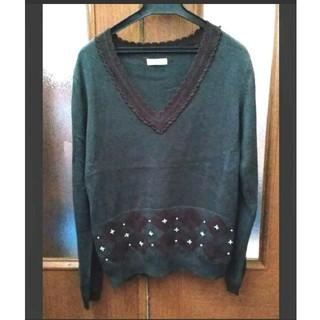 axes femme - アクシーズファム 緑色のセーター