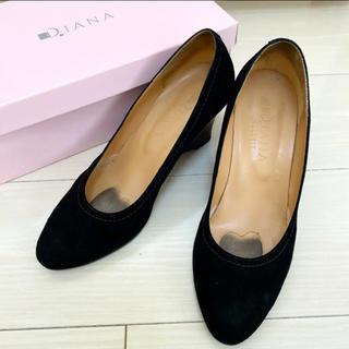 DIANA - 定価16500円 ダイアナ 24.0 日本製 ブラック スエード パンプス
