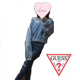 ゲス(GUESS)の【GUESS】デニムデザイントップス(チュニック)