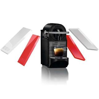 ネスレ(Nestle)のネスプレッソ コーヒーメーカー ピクシークリップ ホワイト&コーラルレッド(エスプレッソマシン)