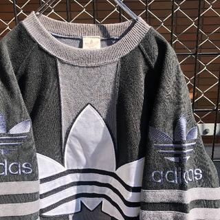 adidas - adidas アディダス オリジナルス スウェット 刺繍 90s デカロゴ