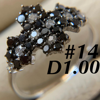 k18  ダイヤモンド フラワーパヴェ 1.00カラット