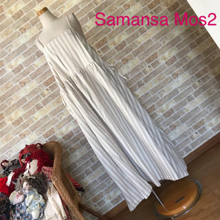 SM2 - Samansa Mos2【美品】サイドリボンキャミワンピース