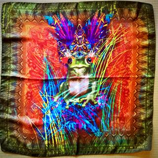 エトロ(ETRO)のエトロ カエル王ミニスカーフ 新品(バンダナ/スカーフ)