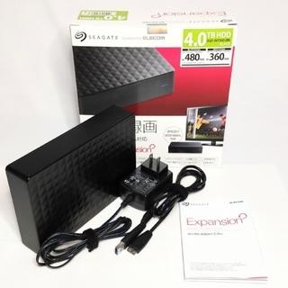 エレコム(ELECOM)のシーゲート エレコム 外付 HDD 4TB SGD-JNY040UBK(PC周辺機器)