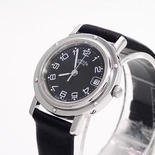 Hermes - 【HERMES】エルメス腕時計 'クリッパー ブラック文字盤' ☆美品☆