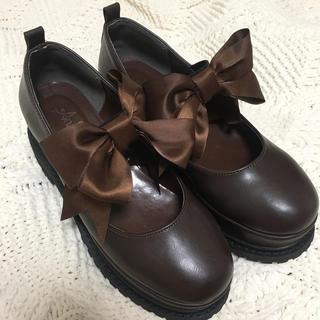 アンクルージュ(Ank Rouge)のAnk Rouge リボンパンプス 厚底 ローファー (ローファー/革靴)