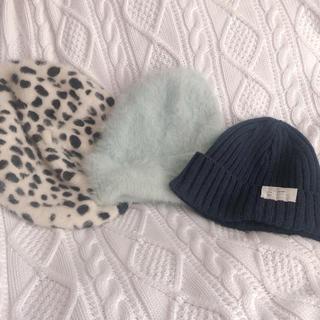 dazzlin - ベレー帽 dazzlin モヘヤキャップ ビーニー 3点セット