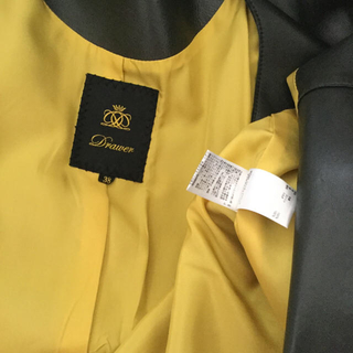 ドゥロワー(Drawer)のDRAWER ラムレザー ノーカラー コート ドゥロワー スプリングコート(スプリングコート)