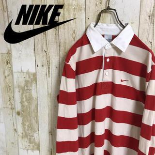 NIKE - NIKEナイキ ラガーシャツ ワンポイント刺繍 希少