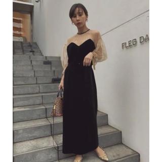 アメリヴィンテージ(Ameri VINTAGE)の田中みな実さん着用 アメリヴィンテージ  ドレス 新品未使用 即完売商品(ロングドレス)