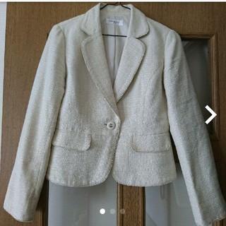 オフオン(OFUON)のOFUONオフホワイトジャケット36オフオン入園式入学式(テーラードジャケット)