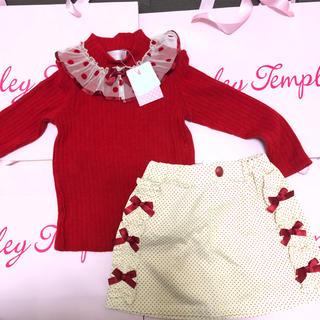 Shirley Temple - 新品 シャーリーテンプル ドット プルオーバー  スカート 110 セット