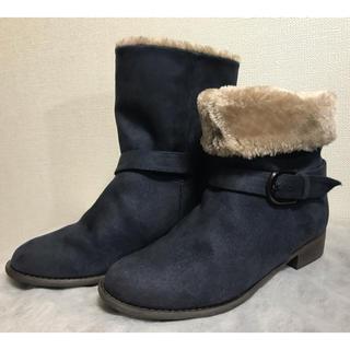 velikoko - velikoko ムートン ローヒール ブーツ 24.5cm